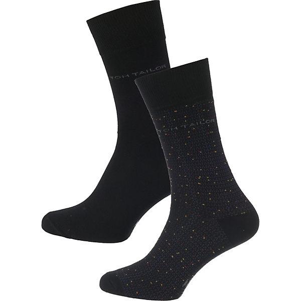 kombi Paar TAILOR schwarz Socken TOM 2 80q0B