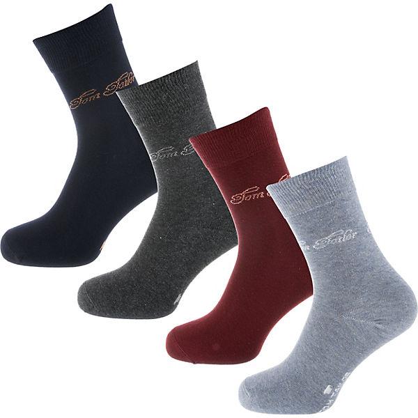 TAILOR Paar 4 TOM Box bordeaux Socken Z8aTqwPx6