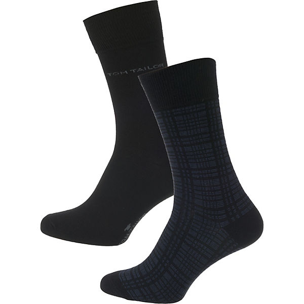 Socken Paar schwarz TOM 2 TAILOR tABqqvw