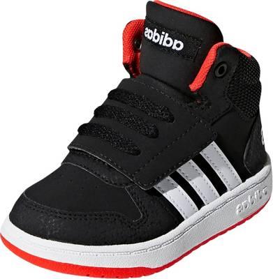 adidas Sport Inspired, Baby Sneakers High HOOPS MID 2.0 I für Jungen, schwarzweiß