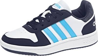 adidas Sport Inspired, Kinder Sneakers Low HOOPS 2.0, blauweiß