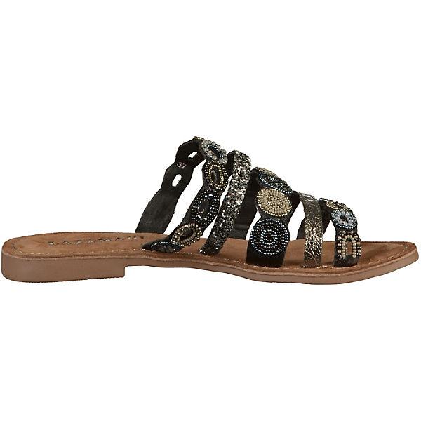 Lazamani, Pantoletten, schwarz Qualität  Gute Qualität schwarz beliebte Schuhe 19c403