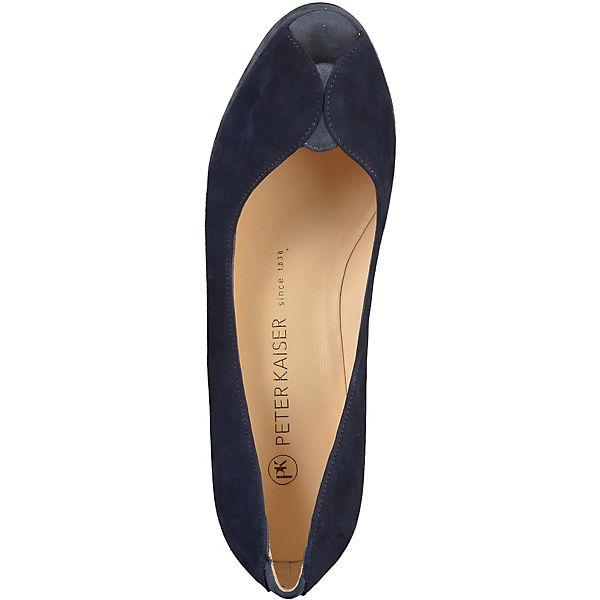 PETER KAISER, Peeptoe-Pumps, dunkelblau beliebte  Gute Qualität beliebte dunkelblau Schuhe 7fd660