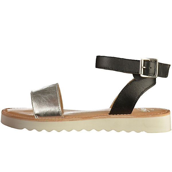 SPM, Klassische Sandalen, silber-kombi