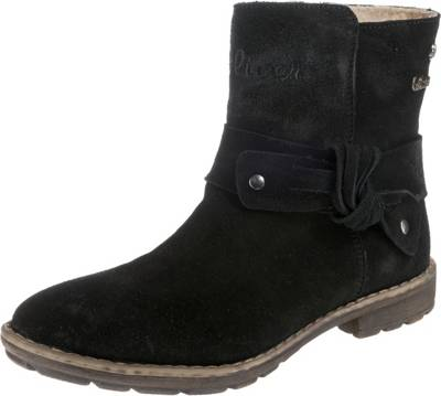 s.Oliver Stiefelette für Mädchen in schwarz   P&P Shoes