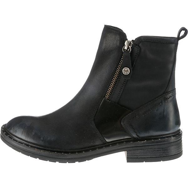 Wrangler, Gstaad Zip Biker Qualität Boots, schwarz  Gute Qualität Biker beliebte Schuhe 281fc3