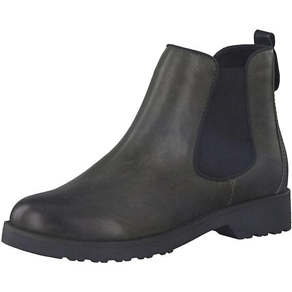 Dunkelgrau Tozzi Marco Feel Chelsea Boots nm80wvN