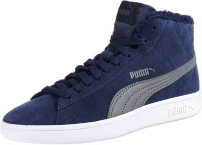 PUMA, Sneakers High Puma Smash v2 Mid Jrfür Jungen, schwarz