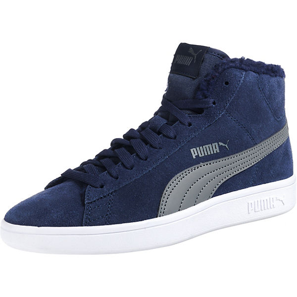 Kinder Sneakers High Puma Smash v2 Mid Fur Jr für Jungen