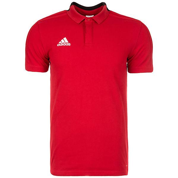 weiß Poloshirt Cotton Performance Herren adidas 18 Condivo rot 0x87nCwCW
