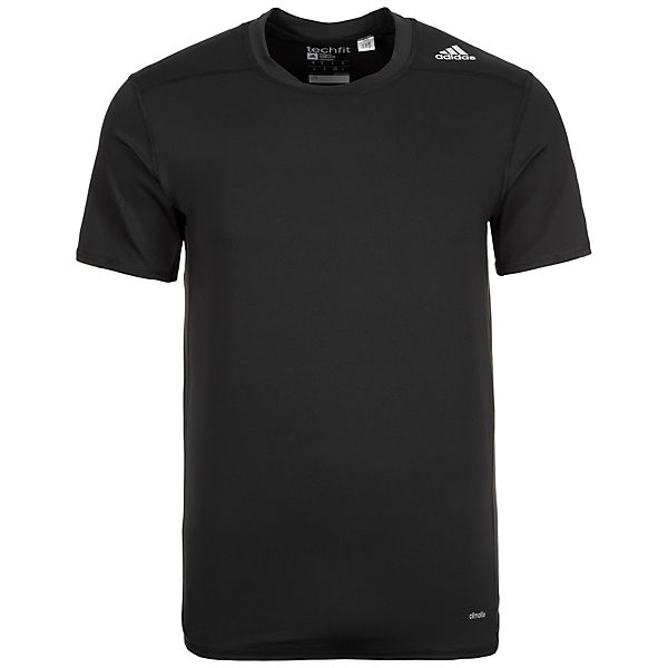 adidas Performance Trainingsshirt Base TechFit schwarz Herren fTfw0Yrq