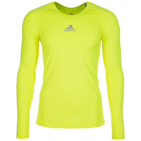 adidas Performance AlphaSkin Sport Trainingsshirt Herren gelb