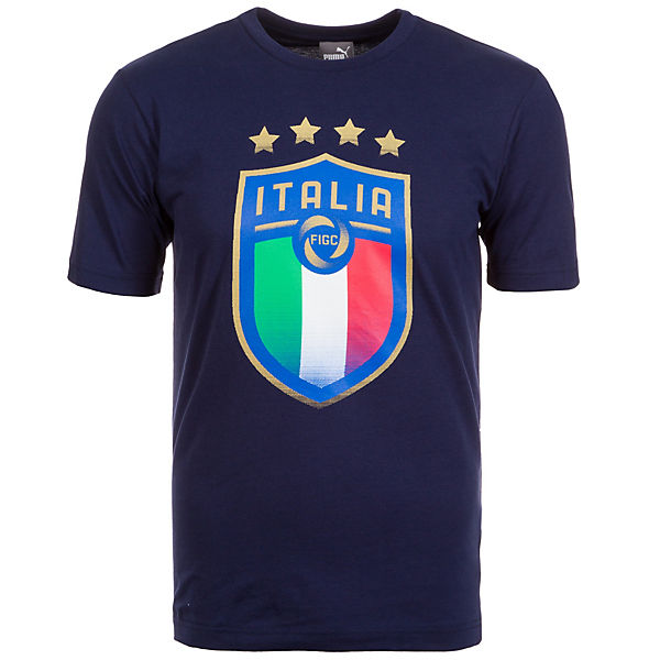 FIGC Shirt PUMA dunkelblau Italien T Herren Badge PwwqgxFd