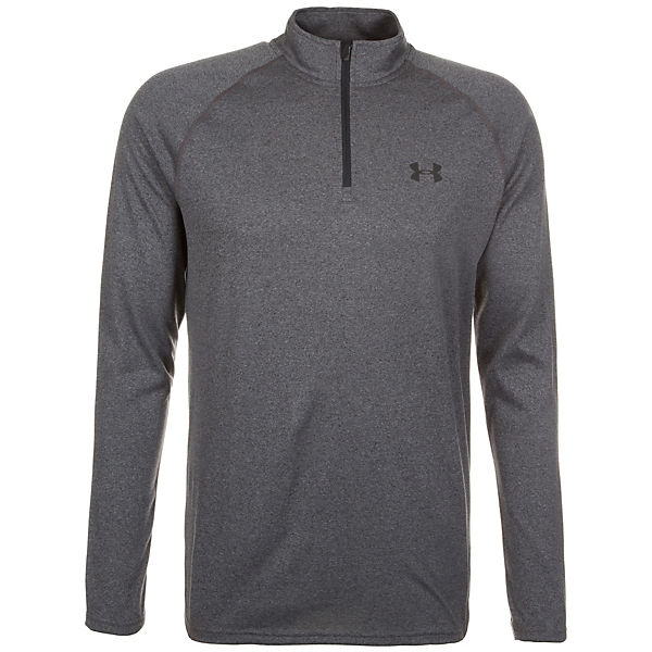 Under 4 Armour Zip Tech Herren Trainingsshirt HeatGear 1 dunkelgrau nv7vAH