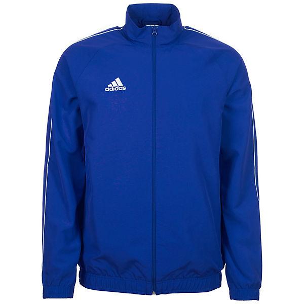 adidas Performance, Core 18 Präsentationsjacke Herren, blau weiß ... 23cebe5054
