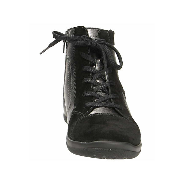 WALDLÄUFER,  Schnürstiefeletten, schwarz  WALDLÄUFER, Gute Qualität beliebte Schuhe 93fc6b