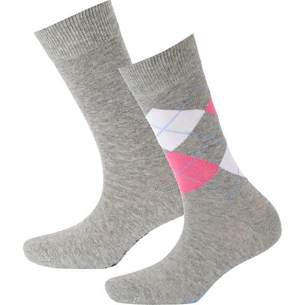 Burlington Everyday 2 Paar Socken grau
