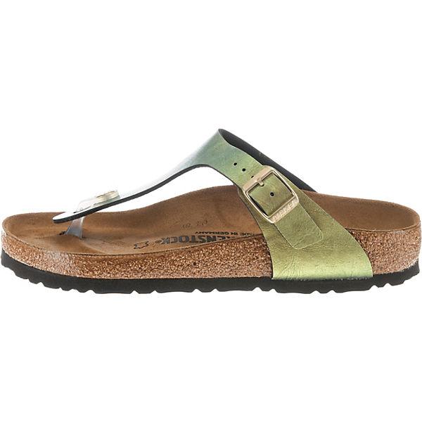 BIRKENSTOCK, Gizeh weit Pantoletten, beliebte gold  Gute Qualität beliebte Pantoletten, Schuhe 4a4900