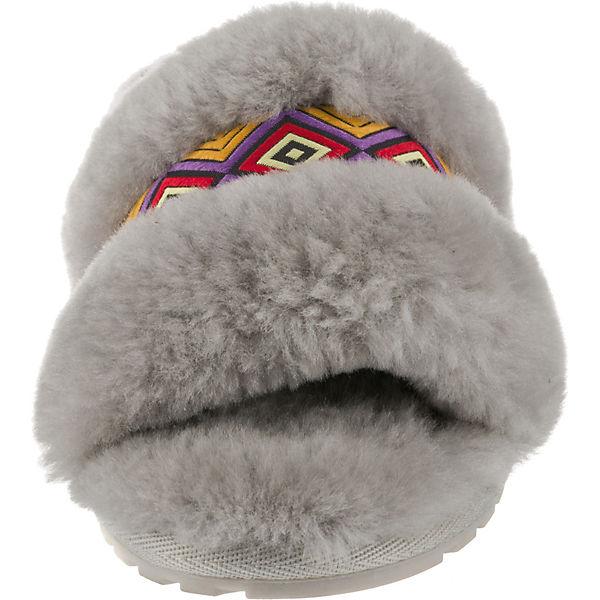 Australia Pantoffeln EMU hellgrau Tribal Wrenlette xYnpWOndv