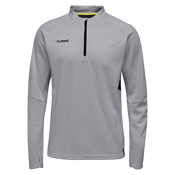 hummel Move 200011 grau 8744 Sweatshirts Zip Daumenlöchern mit Tech Half rZqwrP