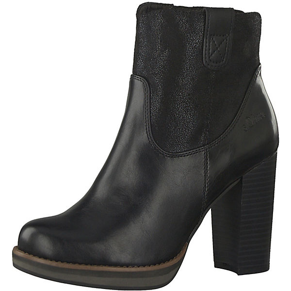 excellent quality great fit low price s.Oliver, Plateau Stiefeletten, schwarz