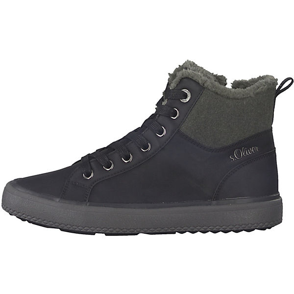 s.Oliver, Sneakers Sneakers s.Oliver, High, schwarz/grau   bdeb12