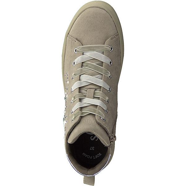 s.Oliver, Sneakers High, High, High, sand  Gute Qualität beliebte Schuhe 619310
