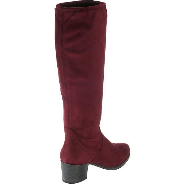 CAPRICE Bella Schlupfstiefel bordeaux    Gute Qualität beliebte Schuhe a857eb