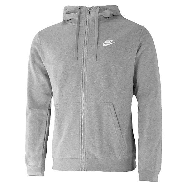 Nike Full Club FT grau Sweatjacken Zip Sportswear qawr45qv