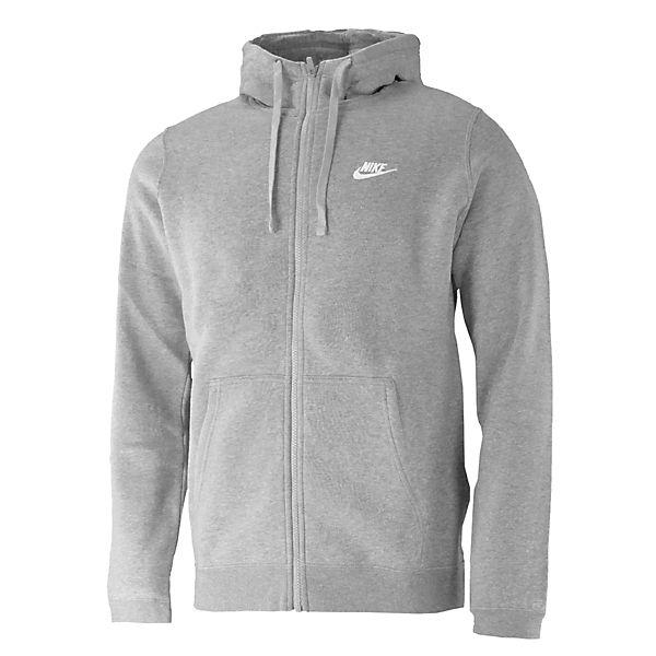 grau Sweatjacken Nike Sportswear Club Zip FLC Full w0qYwv