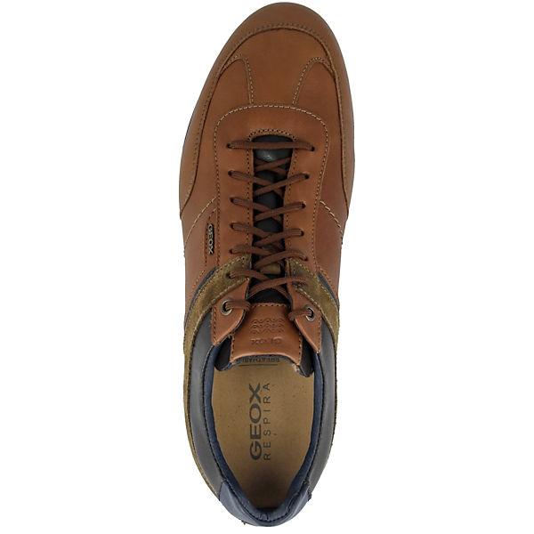 U GEOX Clemet Low braun B Sneakers 4CdwCFq