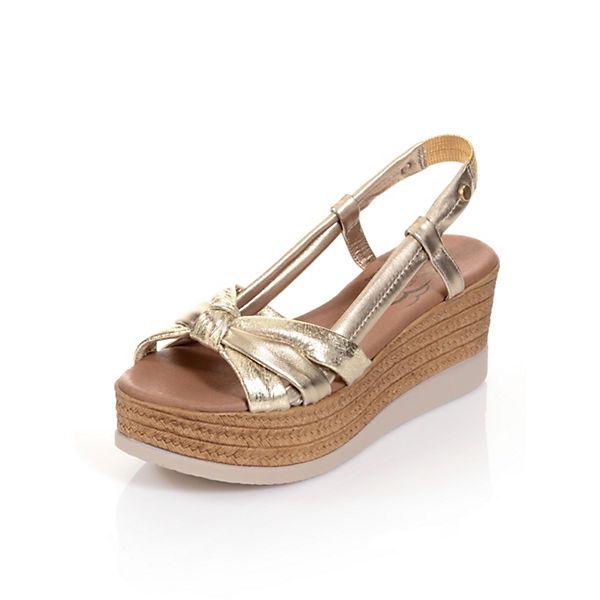 Klassische Alba gold Alba Sandaletten Moda Moda 10q7RvW6c