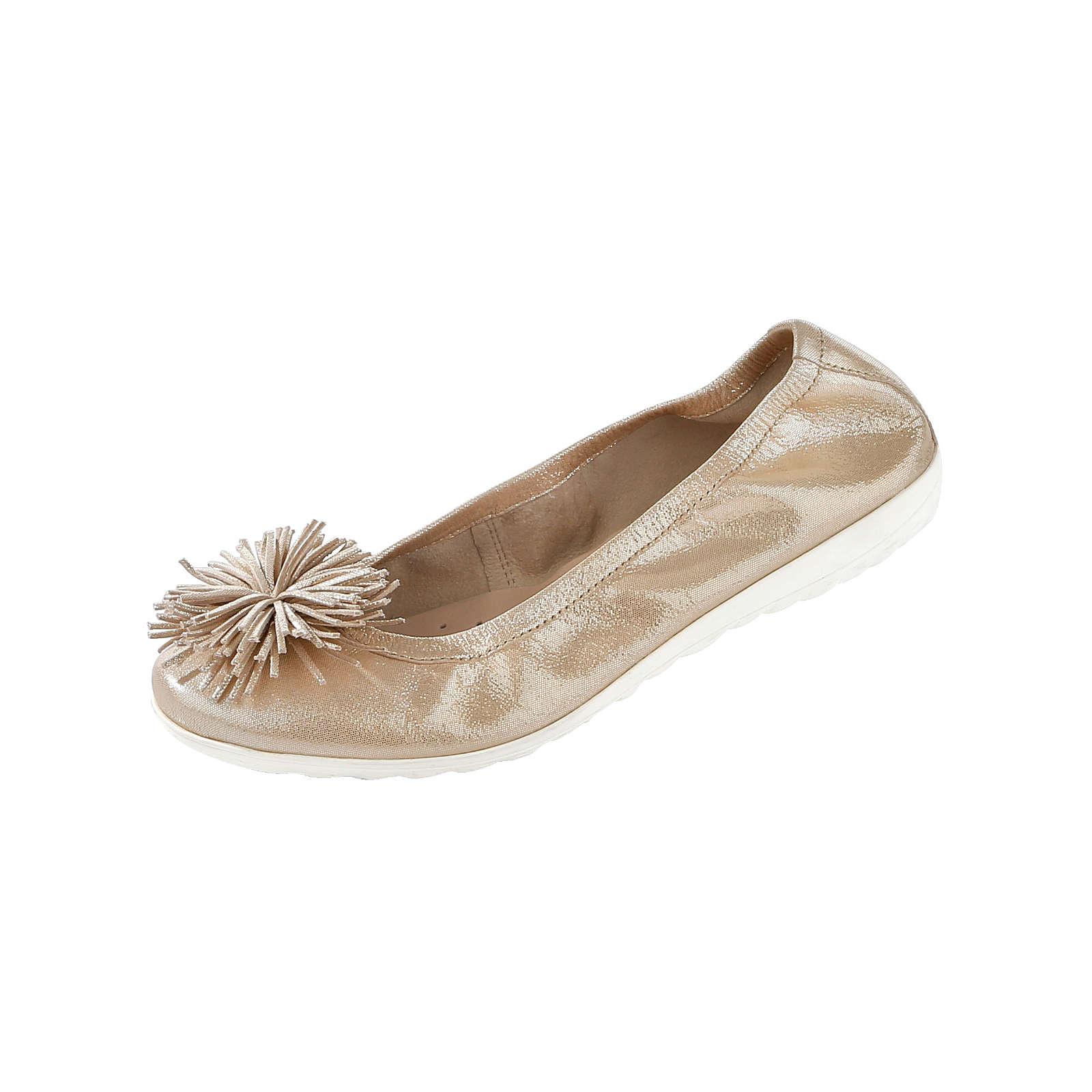 CAPRICE Klassische Ballerinas gold Damen Gr. 37