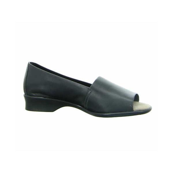Longo, Peeptoe-Ballerinas, schwarz Qualität  Gute Qualität schwarz beliebte Schuhe 898bba