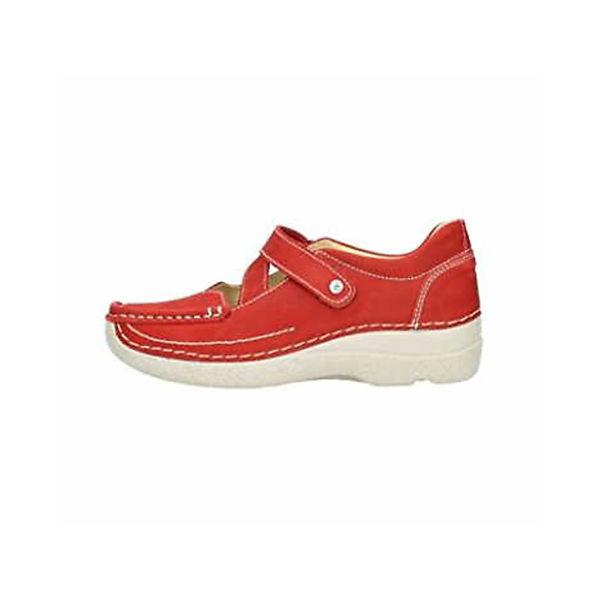 Wolky, Riemchenballerinas, rot  Gute Qualität beliebte Schuhe