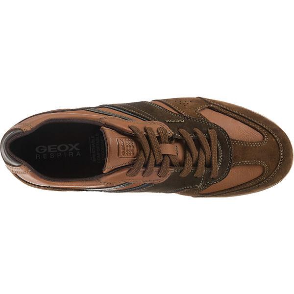 GEOX, Low, U RENAN A Sneakers Low, GEOX, braun  Gute Qualität beliebte Schuhe e43762