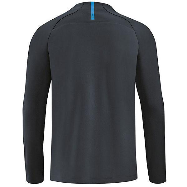 8658 1 mit Ziptop Sweatshirts Reißverschluss 4 JAKO 00 Front anthrazit Prestige 6qRxw60a
