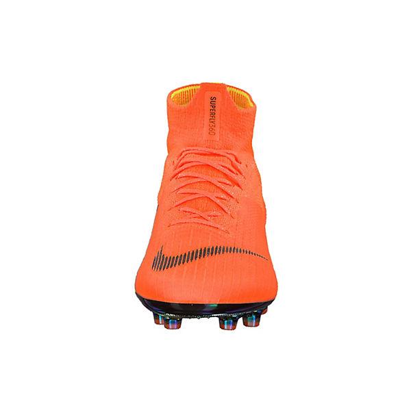 NIKE, Fußballschuhe Mercurial Superfly VI Elite AG-Pro Fußballschuhe, mit Dynamic Fit AH7377-810 Fußballschuhe, AG-Pro orange/schwarz   616f36