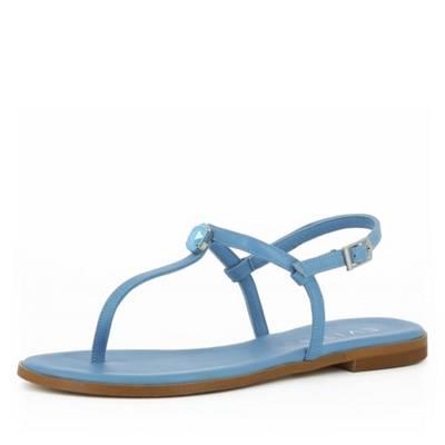 Evita Shoes Olimpia Damen Sandale Glattleder Hellblau 37 IP953Ef