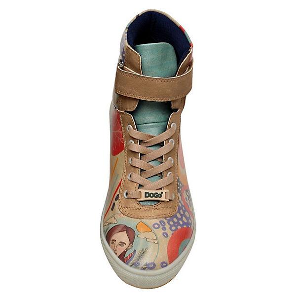 Dogo Sneakers Portraits Surreal High Shoes mehrfarbig Wavy qwrRaOnq