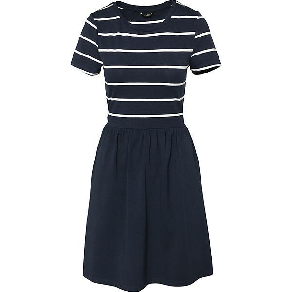 weiß ONLY Jerseykleid weiß Jerseykleid ONLY weiß blau ONLY Jerseykleid blau blau ONLY Jerseykleid aqSOwt