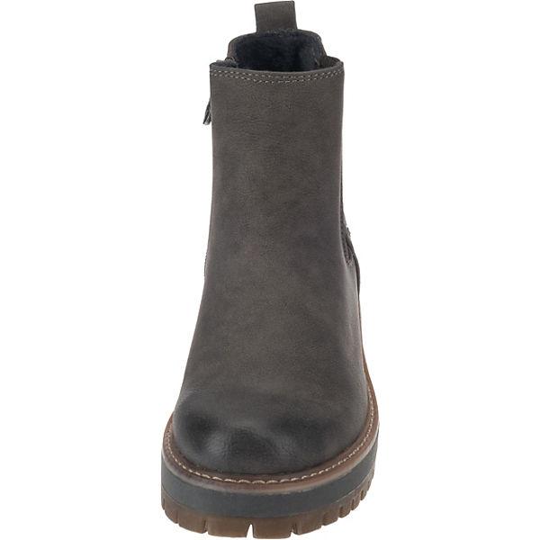 sports shoes cbc2a b2fca TOM TAILOR, mit Tex Chelsea Boots, grau | mirapodo
