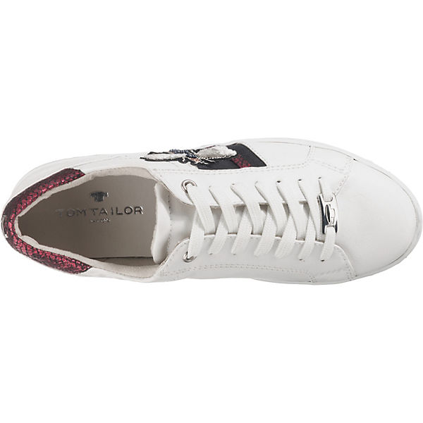 TOM Sneakers TAILOR, Sneakers TOM Low, weiß   3ab22a
