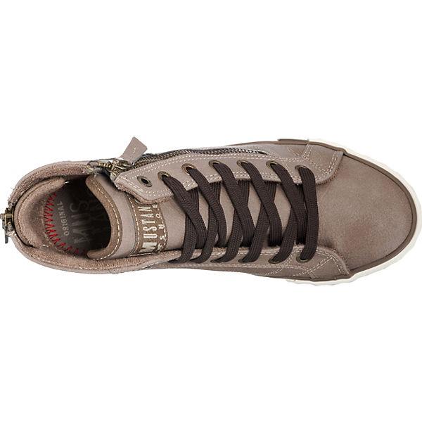 MUSTANG High MUSTANG Sneakers taupe Sneakers wFpFPqxr07