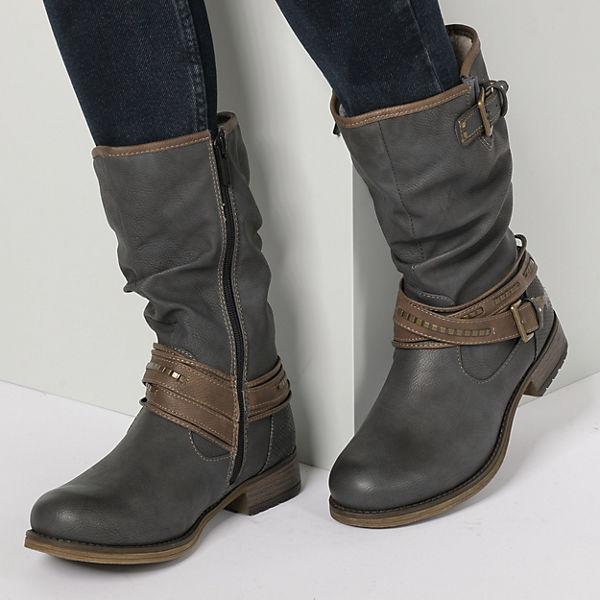MUSTANG, Winterstiefel, beliebte graphit  Gute Qualität beliebte Winterstiefel, Schuhe e5762b