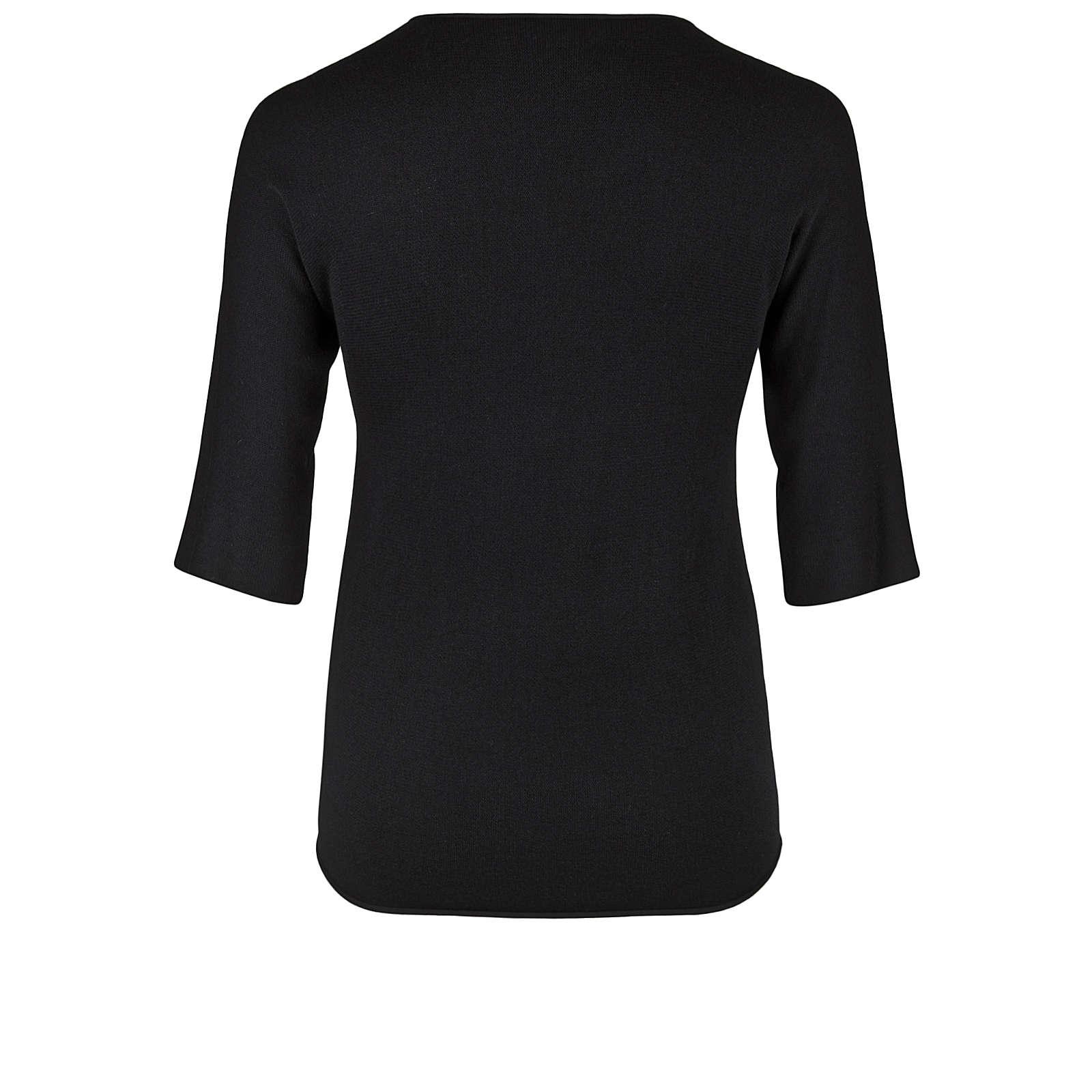 Doris Streich Pullover FEINSTRICKPULLOVER MIT 3/4-ARM Pullover schwarz Damen Gr. 46