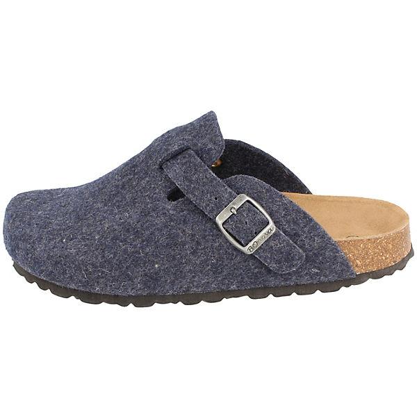 BOnova, Wesel Pantoffeln, dunkelblau