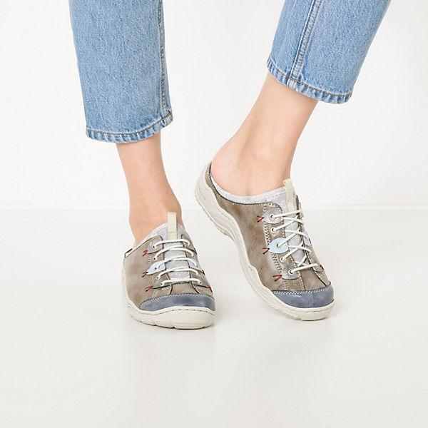 kombi Pantoletten Pantoletten kombi grau grau grau Pantoletten rieker rieker rieker ZCFtfxqn