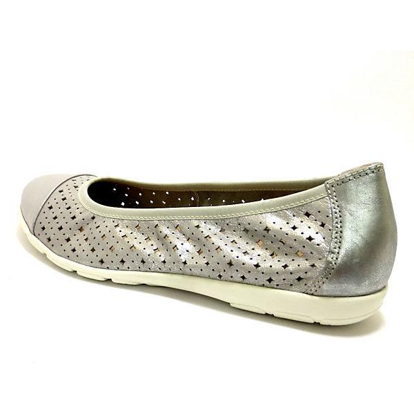 CAPRICE, Klassische Ballerinas, silber  Gute Qualität beliebte Schuhe