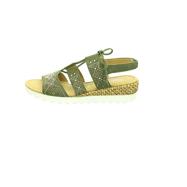 Gabor, Gute Klassische Sandalen, grün  Gute Gabor, Qualität beliebte Schuhe 271819